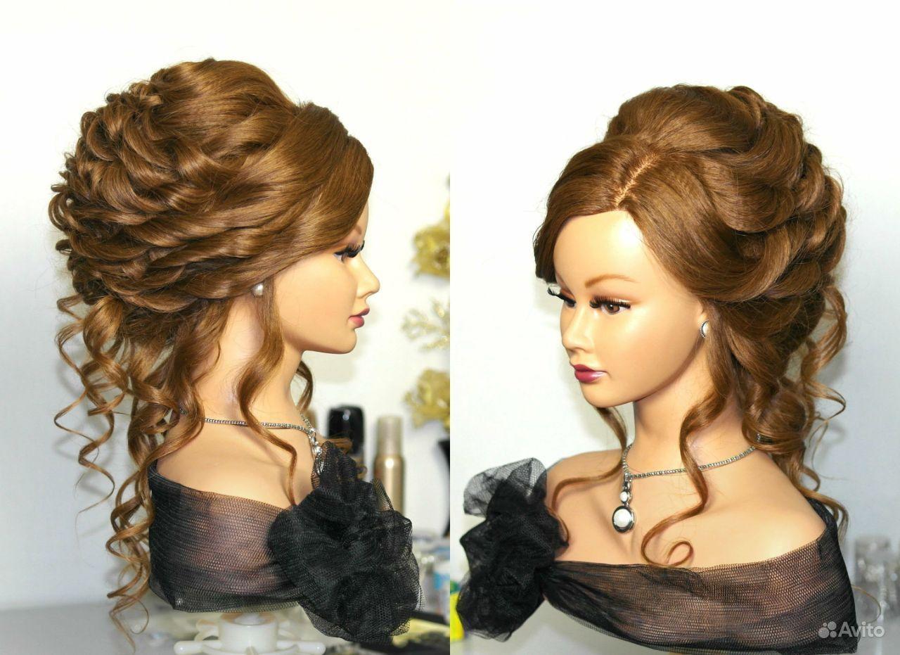Прическа на вечер из длинных волос своими