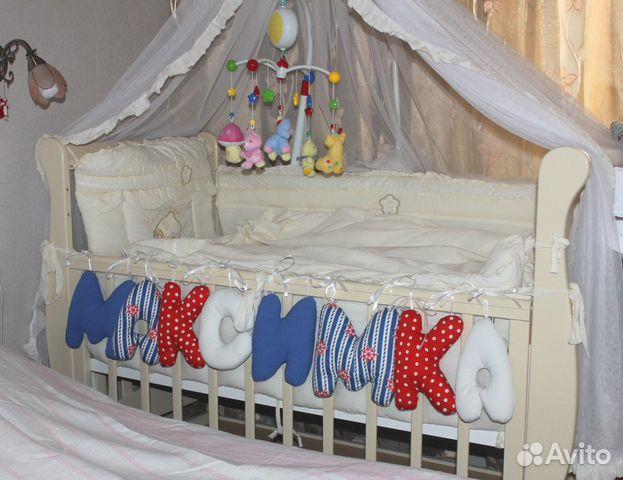 Буквы на кроватку своими руками