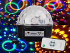 "Диско шар с mp3 ""Led Magic Ball Light"" 6 цветов"
