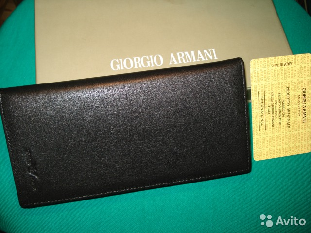 Портмоне Armani Крупное Мужское Италия купить в Москве на Avito ... 9351441d8e3