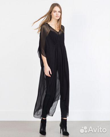d771ba2b9b9 Туника Zara черная купить в Москве на Avito — Объявления на сайте Авито