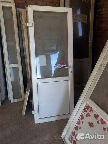 Окна двери пластиковые б/у