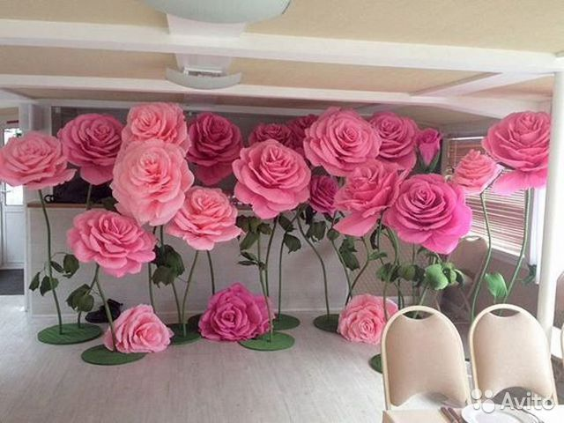 212e3f0828673 Ростовые цветы, большие бумажные цветы, фотозона | Festima.Ru ...