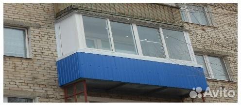 Теплые окна на балкон, хрущевка п-образ 3,8х1,55 м купить в .