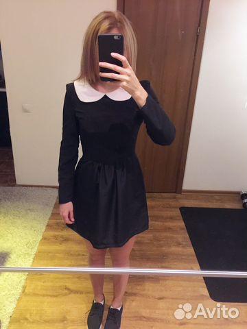 9d986feecf1 Черное платье с белым воротничком купить в Москве на Avito ...