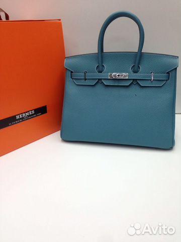 b411dc9a Женская сумка Hermes Birkin 35 см голубой | Festima.Ru - Мониторинг ...
