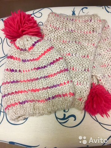 Шапочка+шарфик motivi дев (3-4 года)