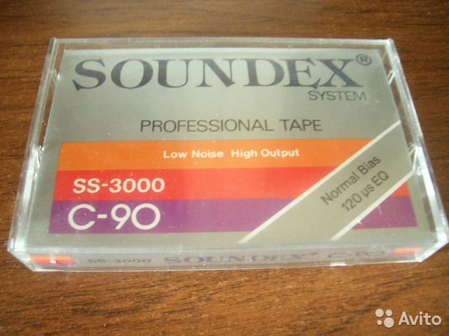 "Compact-cassette "" Soundex "" (Made in Austria)— фотография №1"