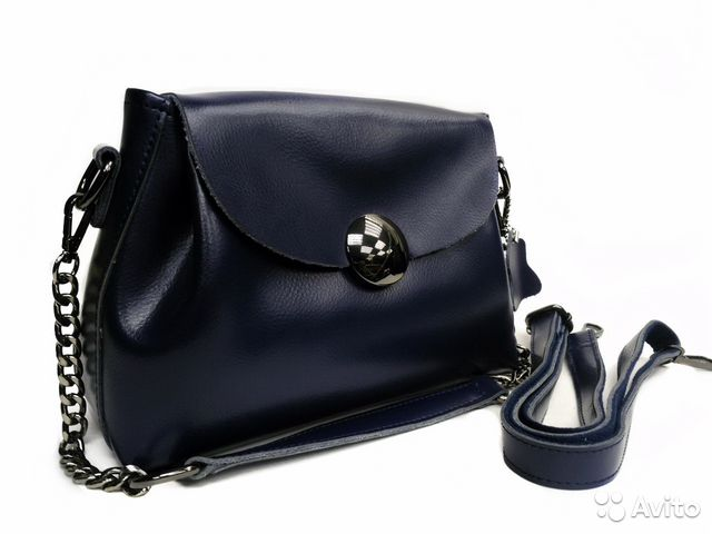 bbafe9efa7e3 Женская сумка, синяя, кожаная купить в Санкт-Петербурге на Avito ...
