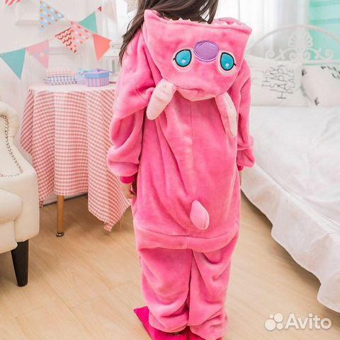Детский кигуруми Розовый стич  6f7fec0e8b245