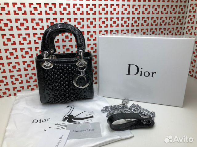 501232075cd0 Сумка Lady Dior Диор мини черная купить в Москве на Avito ...