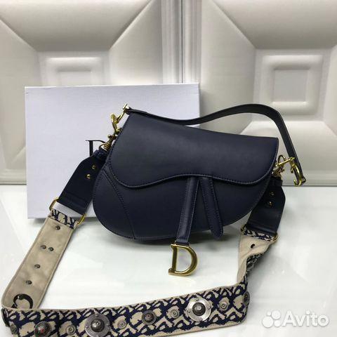 39a4989d8bca Женская сумка Christian Dior седло black купить в Москве на Avito ...
