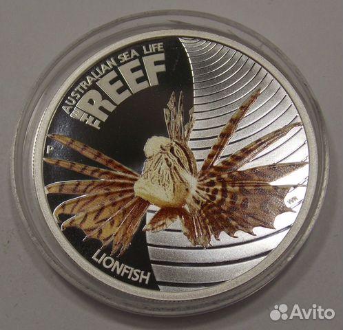 89617538239 50 центов 2009 Австралия. Рыба-лев. Серебро