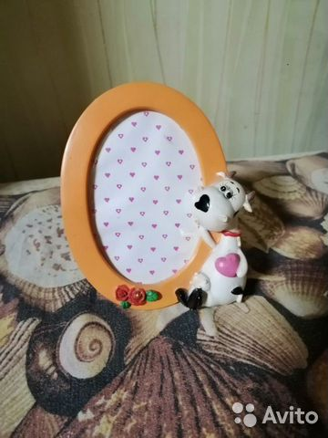 Фото рамка детская с коровой + стеклянная рамка 89045725678 купить 1