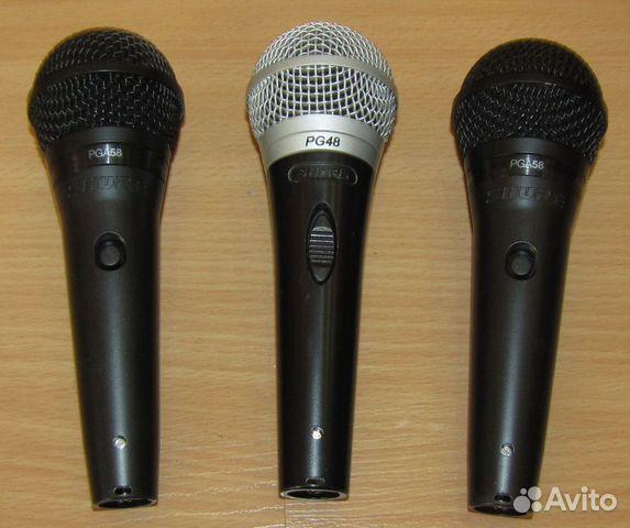 Проф вокальные микрофоны Shure PG48 - 58 3шт новые 89128899109 купить 9
