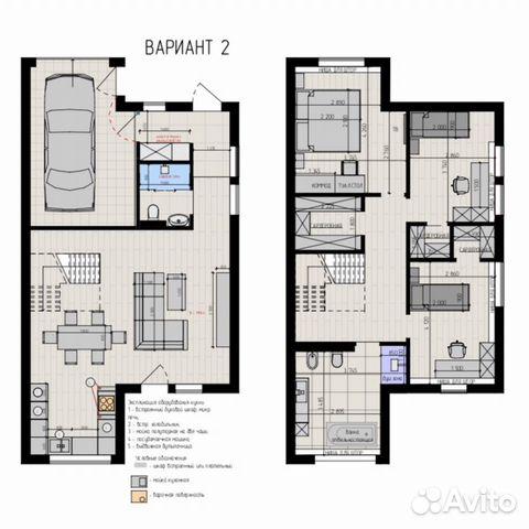 Таунхаус 153 м² на участке 1.5 сот. купить 10