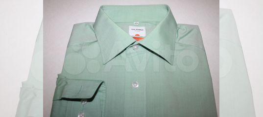 9180f6c43caf888 Мужская рубашка Olymp мятного цвета 40 ворот купить в Санкт-Петербурге на  Avito — Объявления на сайте Авито