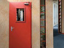 Технические двери + стекло