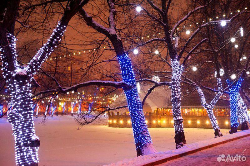 Гирлянды на дерево новогоднее оформление  89613169763 купить 6