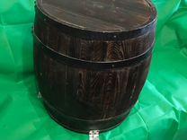 Деревянная декоративная бочка