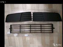 Октавия А7 решетка радиатора и накладки птф