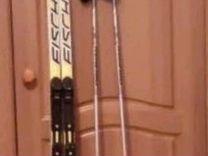 Лыжи марка Fisher Combi, ботинки, чехол