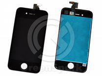 Дисплей для iPhone 4 +тач черный с рамкой AAA