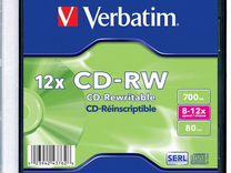 Диски Verbatim CD-RW - 12x - 700mb
