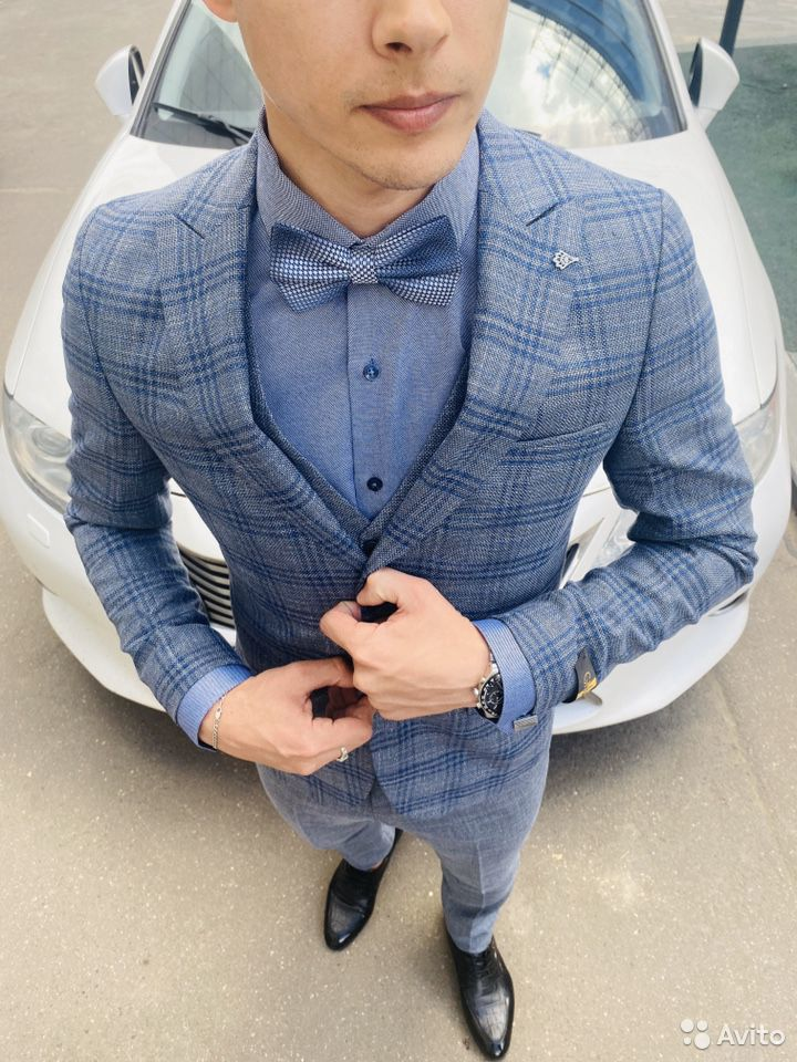 Серо синий костюм  89999758742 купить 6
