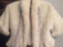 Накидка из вязаной норки — Одежда, обувь, аксессуары в Москве
