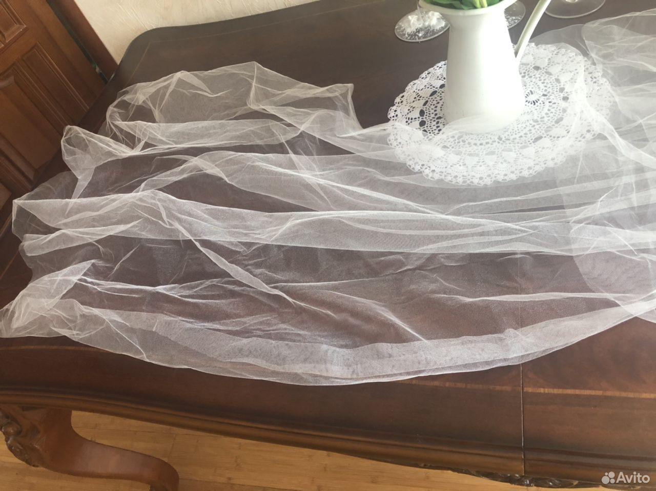 Свадебная фата в пол трехслойная  89818224760 купить 5