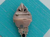 Серебряная брошь-подвеска sajen