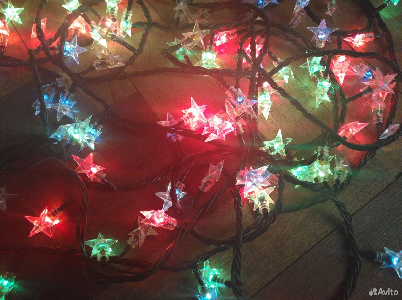 Электрическая гирлянда «Звездочки» (разноцветная)  89959110833 купить 8