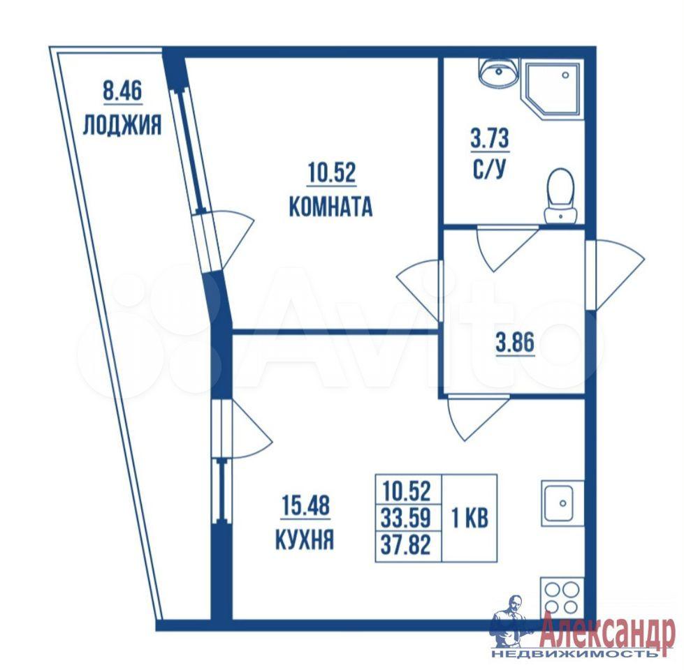 1-к квартира, 38 м², 2/16 эт.  89587853995 купить 1